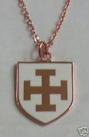 TEUTONIC Knights Order Shield Cross Necklace