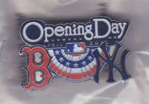 Boston Red Sox 2011 Opening Day vs. Yankees Pin