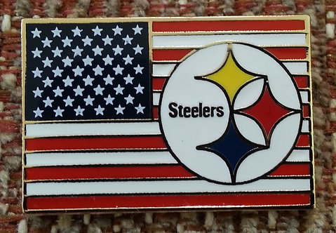 PITTSBURGH STEELERS UNITED STATES FLAG LAPEL PIN