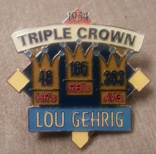 LOU GEHRIG 1934 TRIPLE CROWN WINNER LAPEL PIN