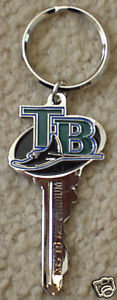 "TAMPA BAY RAYS ""Key to the Stadium"" Key Ring"