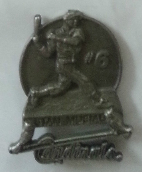 Stan Musial Pewter Statue Unveiling Lapel Pin