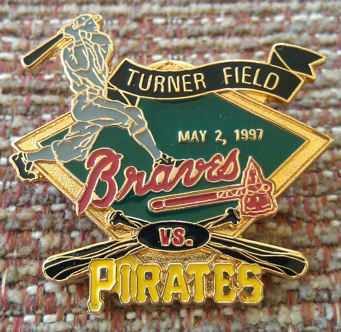 IRATES First Game Played TURNER FIELD Lapel Pin