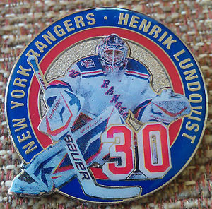 NEW YORK RANGERS HENRIK LUNDDOVIST #30 Lapel Pin
