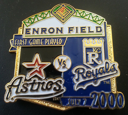ROYALS First Game Played ENRON FIELD Lapel Pin