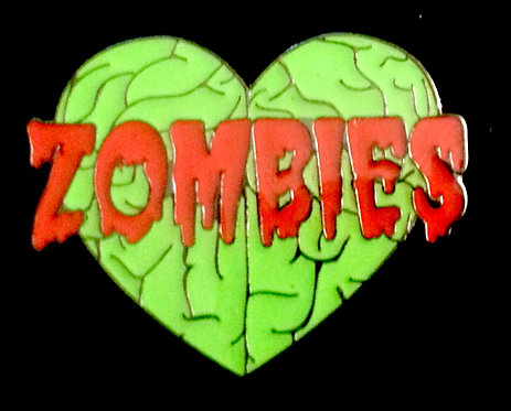 "ZOMBIES LOVE BRAINS 1"" Lapel Pin"