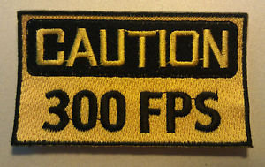 PAINTBALL CAUTION 300 FPS Embroidered Patch