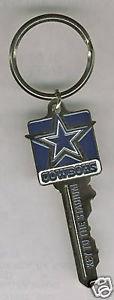 """DALLAS COWBOYS """"Key to the Stadium"""" Key Ring"""