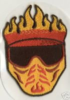PAINTBALL Flaming HELL MASK Embroidered Patch