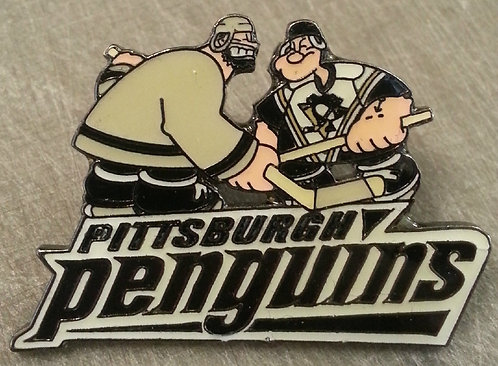 PITTSBURGH PENGUINS POPEYE / BRUTUS FACE-OFF Pin
