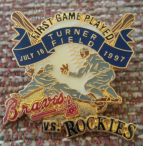 ROCKIES First Game Played @ TURNER FIELD Lapel Pin