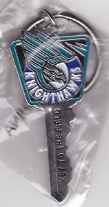 "Rochester KNIGHTHAWKS ""Key to the FIELD"" Key Ring"