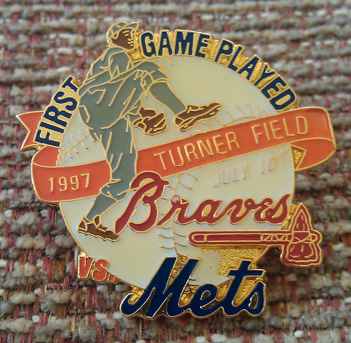METS First Game Played TURNER FIELD Lapel Pin