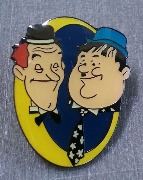 LAUREL AND HARDY COMEDY LEGENDS LAPEL PIN