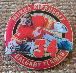 CALGARY FLAMES MIIKKA KIPRUSOFF #34 Lapel Pin
