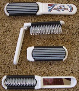 Colorado AVALANCHE Folding Hair Brush & Mirror