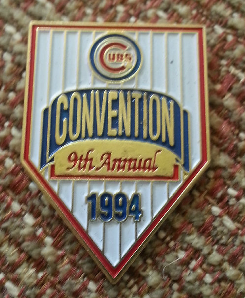 CHICAGO CUBS 9th Annual Convention 1994 LAPEL PIN