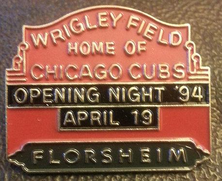 CUBS 1994 OPENING NIGHT FLORSHEIM SPONSOR PIN