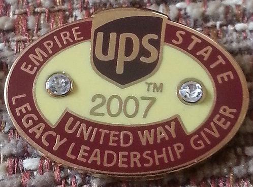 UPS 2007 Empire State United Way Leadership PIN