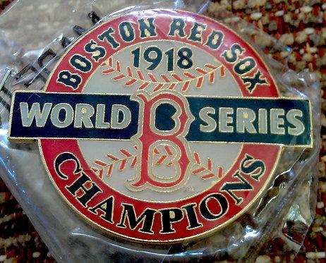 BOSTON RED SOX 1918 WORLD SERIES Lapel Pin
