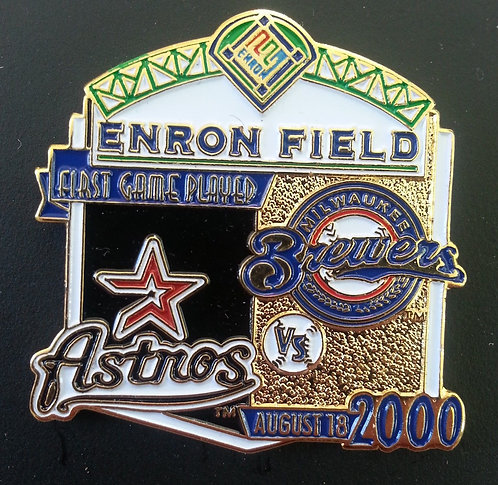 BREWERS First Game Played ENRON FIELD Lapel Pin