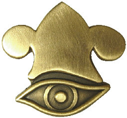 CM-4890 - All Seeing Eye and Phrygian Crown Pin