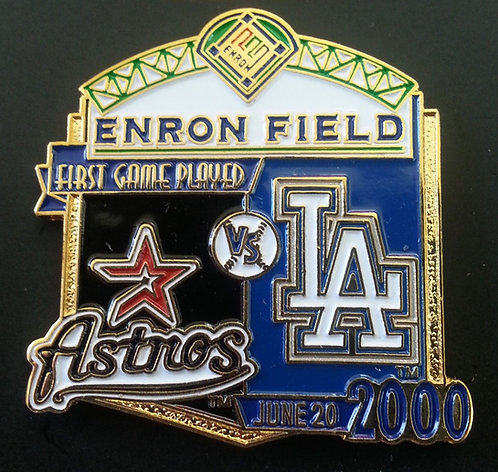 DODGERS First Game Played ENRON FIELD Lapel Pin