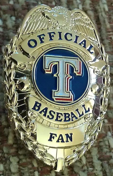 TEXAS RANGERS OFFICIAL BASEBALL FAN BADGE PIN