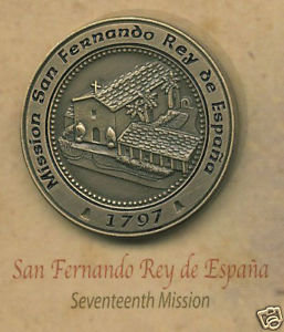 SAN FERNANDO REY de ESPANA #17 Mission Lapel Pin