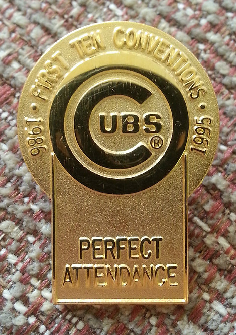 Ten Conventions Perfect Attendance 1986-1995 PIN
