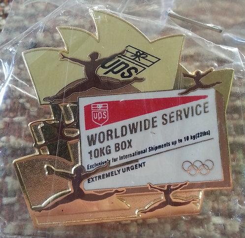 UPS 10KG SHIPPING BOX 2000 Sydney Olympic Pin