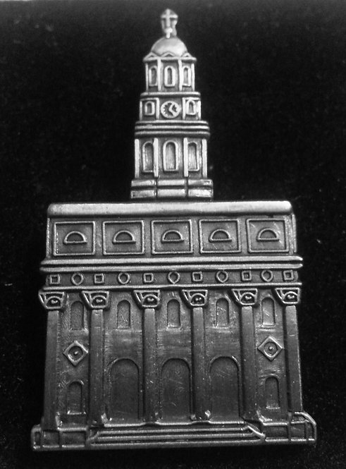 "NAUVOO TEMPLE 3/4"" Antique Nickel Lapel Pin"