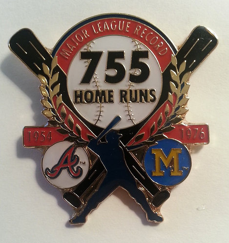 Hank Aaron 755 CAREER HOME RUNS Lapel Pin