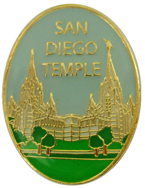 CM-4593 - San Diego Temple Lapel Pin