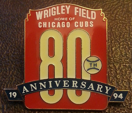 CHICAGO CUBS 1994 80th ANNIVERSARY LAPEL PIN