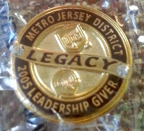 2005 NORTH JERSEY DISTRICT Legacy GOLD Lapel Pin