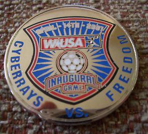 WUSA 2001 INAUGURAL GAME FLIPPING COIN