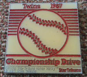 TWINS 1987 CHAMPIONSHIP DRIVE HOMER HANKY Pin