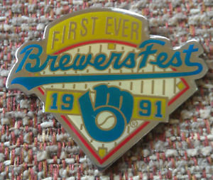 BREWERS 1991 FIRST EVER BREWERS FEST LAPEL PIN