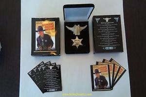 HOPALONG CASSIDY Steer Head Slide & Marshall Badge