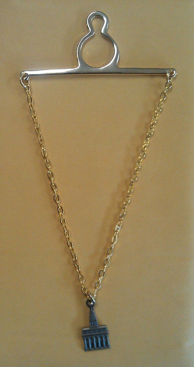 NAUVOO TEMPLE Antique Nickel Tie Chain