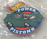 Hot Wheels POWER PISTONS Lapel Pin