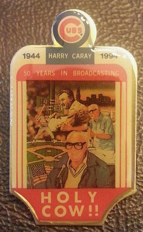 HARRY CARAY 50 YEARS IN BROADCASTING LAPEL PIN