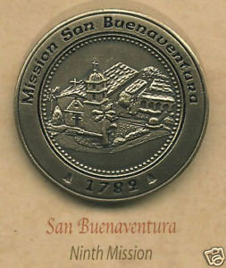 SAN BUENAVENTURA Mission Lapel Pin #9 of 21