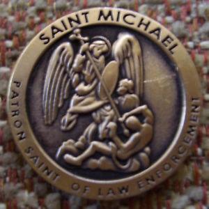 "ST. MICHAEL ""PATRON SAINT OF LAW ENFORCEMENT"" PIN"