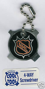 NHL 4-Way POCKET SCREWDRIVER Key Chain
