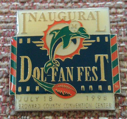 Miami Dolphins Inaugural DOL-FAN FEST 1998 PIN