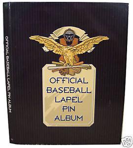 BASEBALL Official Lapel Pin Collectors ALBUM