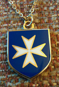 MALTESE CROSS Malta (BLUE) Pendant