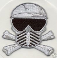 PAINTBALL SKULL & CROSSBONES Embroidered PATCH